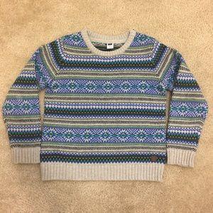 Janie and Jack Boys Fair Isle Crewneck Sweater